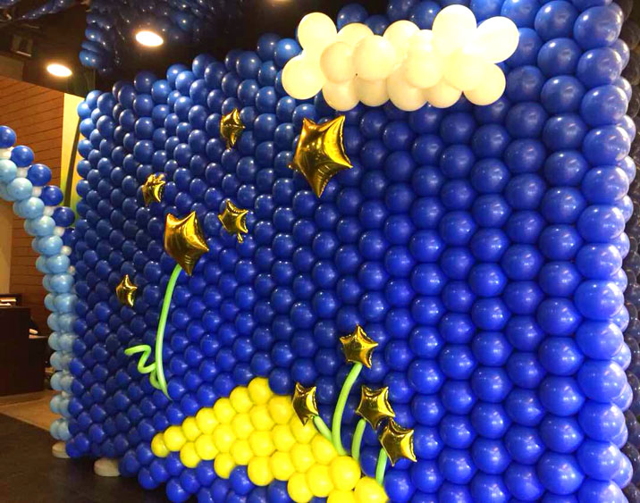 产品名称:蓝色金花背景墙
